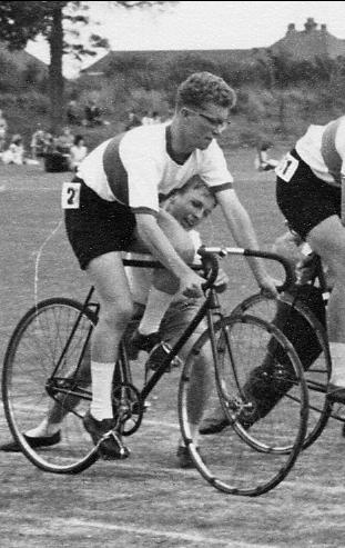 Bernard Clark & Gary Booth in Cycle Race 1962