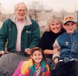 Chuck and Sylvia with Grandchildren