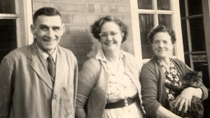 Joe and Edith Sperring with Bessie Blackhall