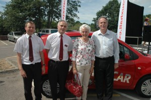 Mrs Mills - Winner of the Jempsons Car Draw July 2010