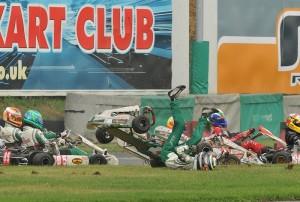 Kart Crash - Jack ends up on his back