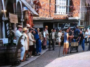 Mapp & Lucia Filming at Rye picture by Willie Wicken
