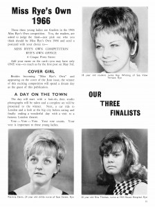 Miss Rye's Own Finalists 1966