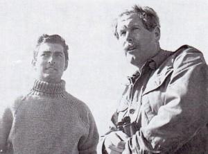 Robert Hollands with Major Oliver Kite