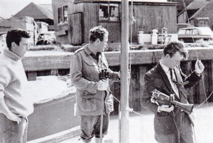 Ted Channel (right), Major Kite (centre) and Robert Hollands