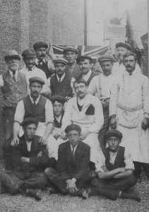 The Ellis Brothers Team that built the Baptist Church in 1909