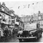 The Royal Car in Market Street Approaching the Town Hall