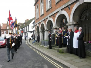 Michael Borne Leads the Rye Armistice Parade