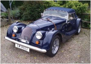 A lovely Morgan Sports Car of the type to be seen at the show