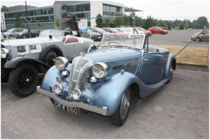 A superb 1940 Triumph Dolomite of  the type to be seen at the show