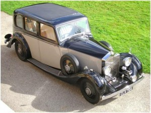 A typical 1930s Rolls Royce 20-25 Saloon