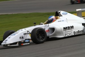 Almost a year to the day since he rolled his Formula Ford at Thruxton,