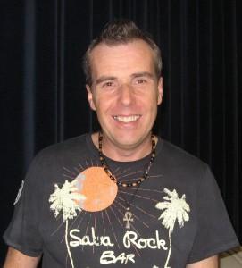 Dance teacher Ashley Davies. He runs Salsa dancing classes all over England