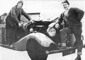 Graham (left0 and Richard with their Bentley