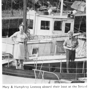 Humphrey & Mary Lestocq aboard the 'Star of Monenle at The Strand