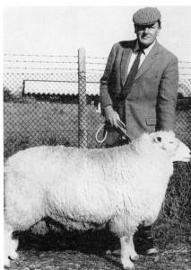 Jack Merricks with his Prize Winning Ram