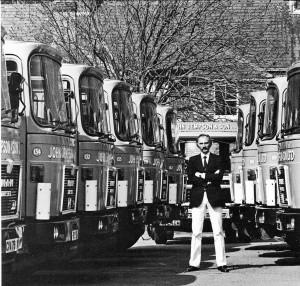 Jonathon Jempson with part of his fleet