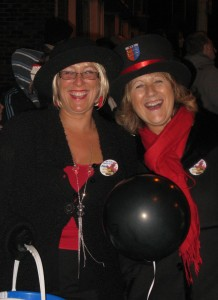 Members of Rye Bonfire Society enjoy their night out