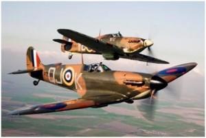Spitfire and Hurricane  photo RAF BBMF