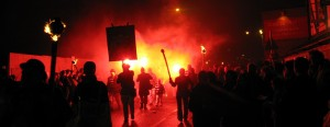Torchlight Procession reaches Tower Street