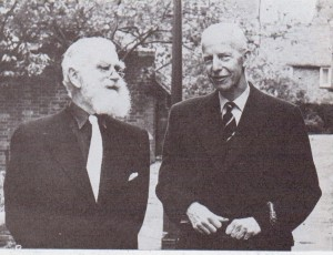 The Mayor of Rye with Lord Redcliffe-Maud who master minded the 'Wind of Change' that swept power from Rye and into the hands of Rother District Council