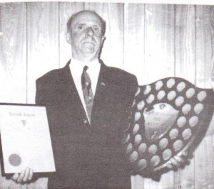 Alec Henshaw with the Jellico Shield