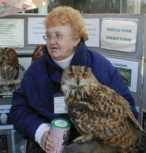Beverley Delafield from the Tomar Owl and Bird Sanctuary with a rescued