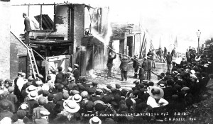 Fire at Harvey Builders Rye 5 September 1912
