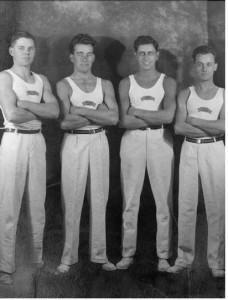 Gymnasts at Rye Boys Club