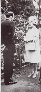 HM Queen Elisabeth the Queen Mother, at Chelsea Flower Show with John Lyle of Old Winders Nurseries Peasmarsh