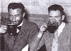 Jim Catt (right) with Gordon Lamb