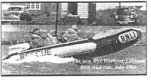 Rye Harbour Inshore Lifeboat First Trial Run