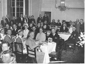 Rye St. John Ambulance Brigade dine at the George Hotel   1951