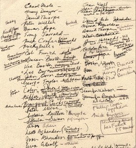 The Class of 52 and associates signed this document.