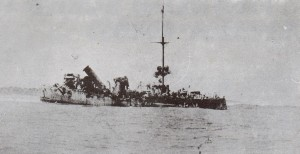 The Emden Aground and Helpless The crew can be seen abandoning the stricken vessel