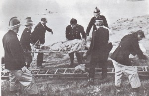 The Firmen got him out and the Ambulance Service carried him off