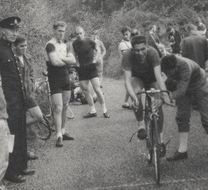 The Wheelers Hill Climb Champion of 1957 meets his match at the Catford Hill Climb on York Hill that same year