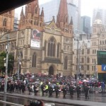 Thousands marched from Flinders Street to the Shrine of Remembrance.