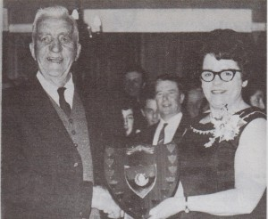 Tom Upton and Joan Camier with the RX Trophy
