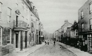 A very old photograph of the George Hotel