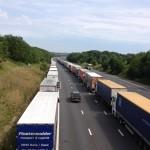 Operation Stack - The scene on the M20 near Aldington