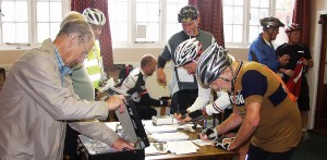 Riders Signing on at the Rye Club