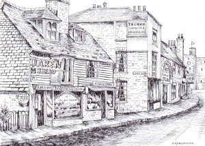 Rye Electric Palace in Landgate   Drawing by Brian Hargreaves