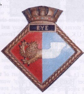 The Insignia of H.M.S. Rye which is held at Rye Town Hall until such