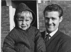 Dave Benn with three year old David Wood in October 1971