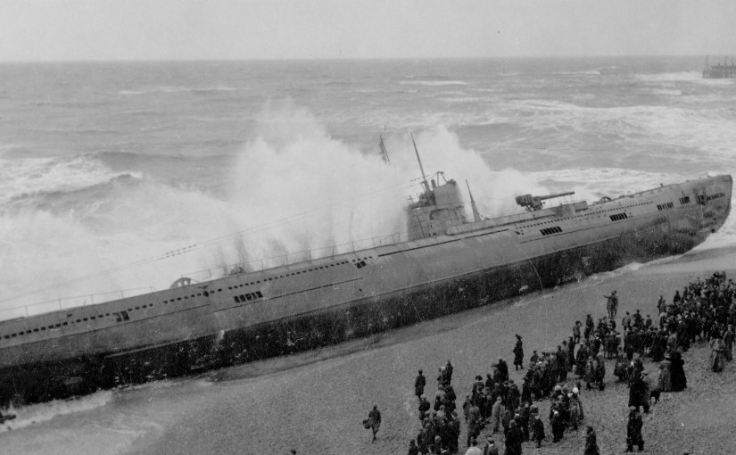 German U-Boat on Hastings Beach