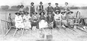 Group of Locals on Giant Hay Rake