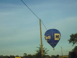 Ham Street Balloon getting close to the wire