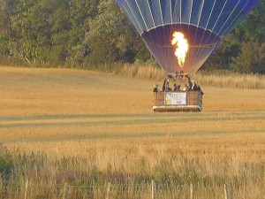 Ham Street Balloon Nearing Touch Down