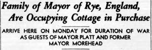 Headline in Rye New York Chronicle